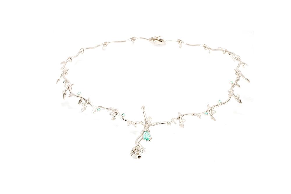 Collier Rosée, or et diamants 2